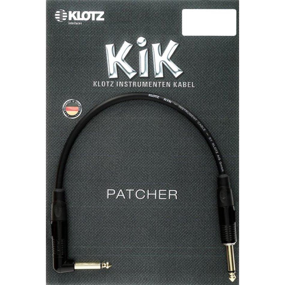 Klotz KIK Pedal patcher straight-angled jack bk 0,6m