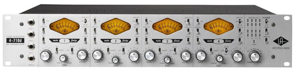 Universal Audio 4-710D Twin-Finity 4 Ch Tube/Solid State pre