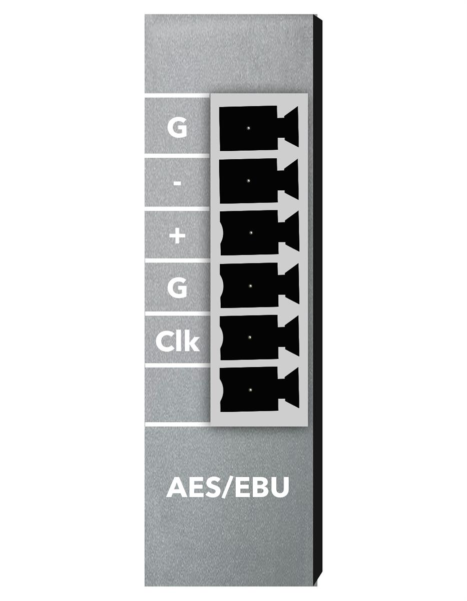 Xilica 2ch AES/EBU Digital. Selectable as an in/out card.