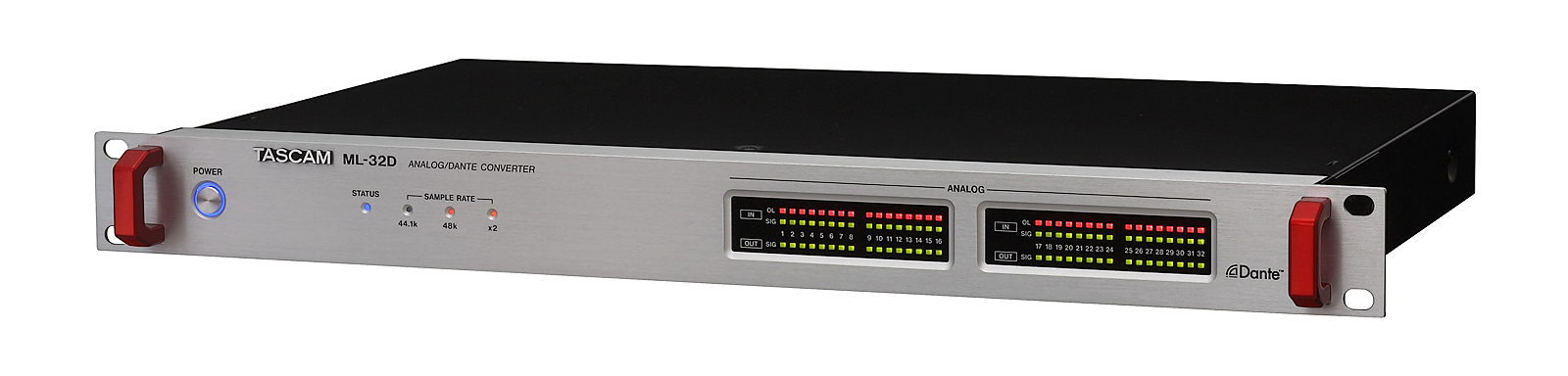 Tascam 32-Channel Analog Line in-out DANTE Converter