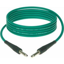 Klotz KIK Instr.Cable black 1,5m Jack 2p - Jack 2p Green
