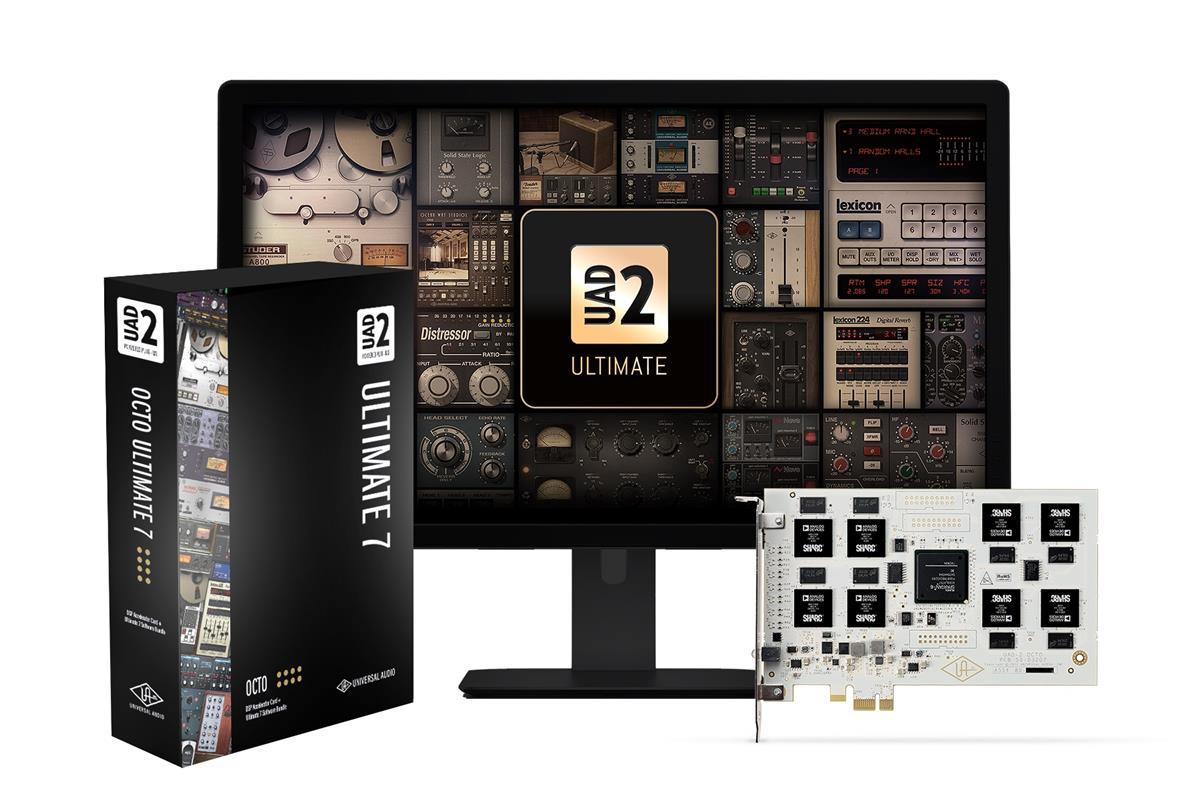 Universal Audio UAD-2 Octo Ultimate 7, 99 plugins inkl, PCIe
