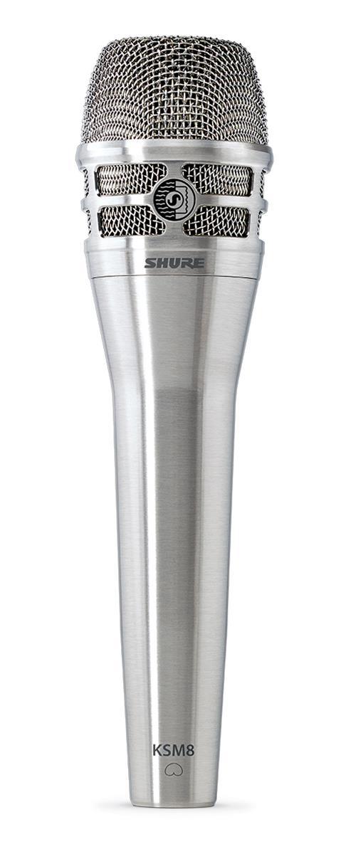 Shure KSM8 Dualdyne Cardioid Dynamic Microphone Nickel