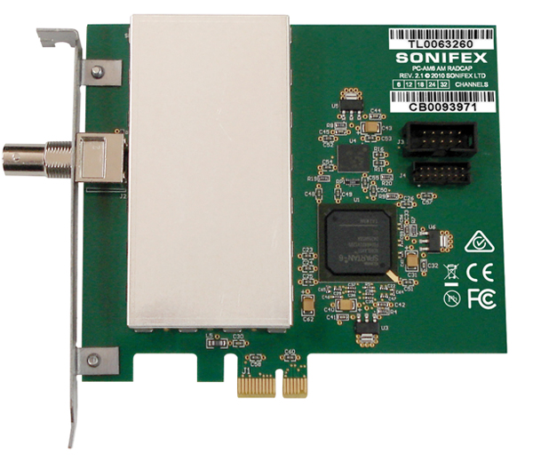 Sonifex AM PCIe Radio Capture Card - 6 Channel