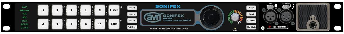 Sonifex 10 Button Talkback Intercom Advanced, Rackmount