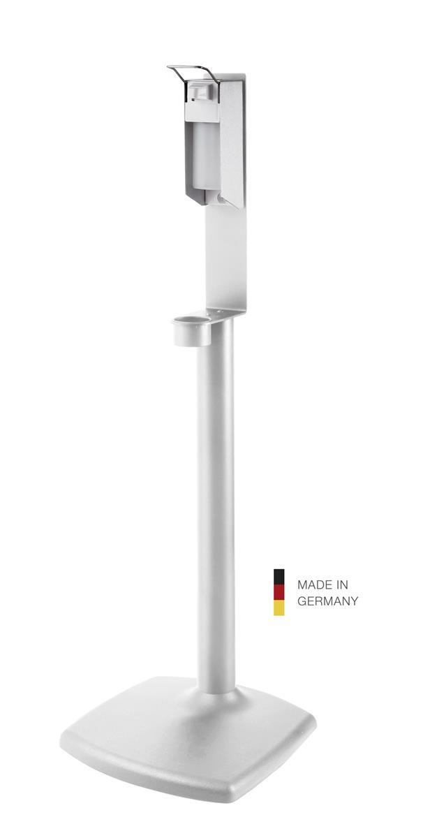 K&M 80358 Disinfectant stand inkl dispenser, white structur