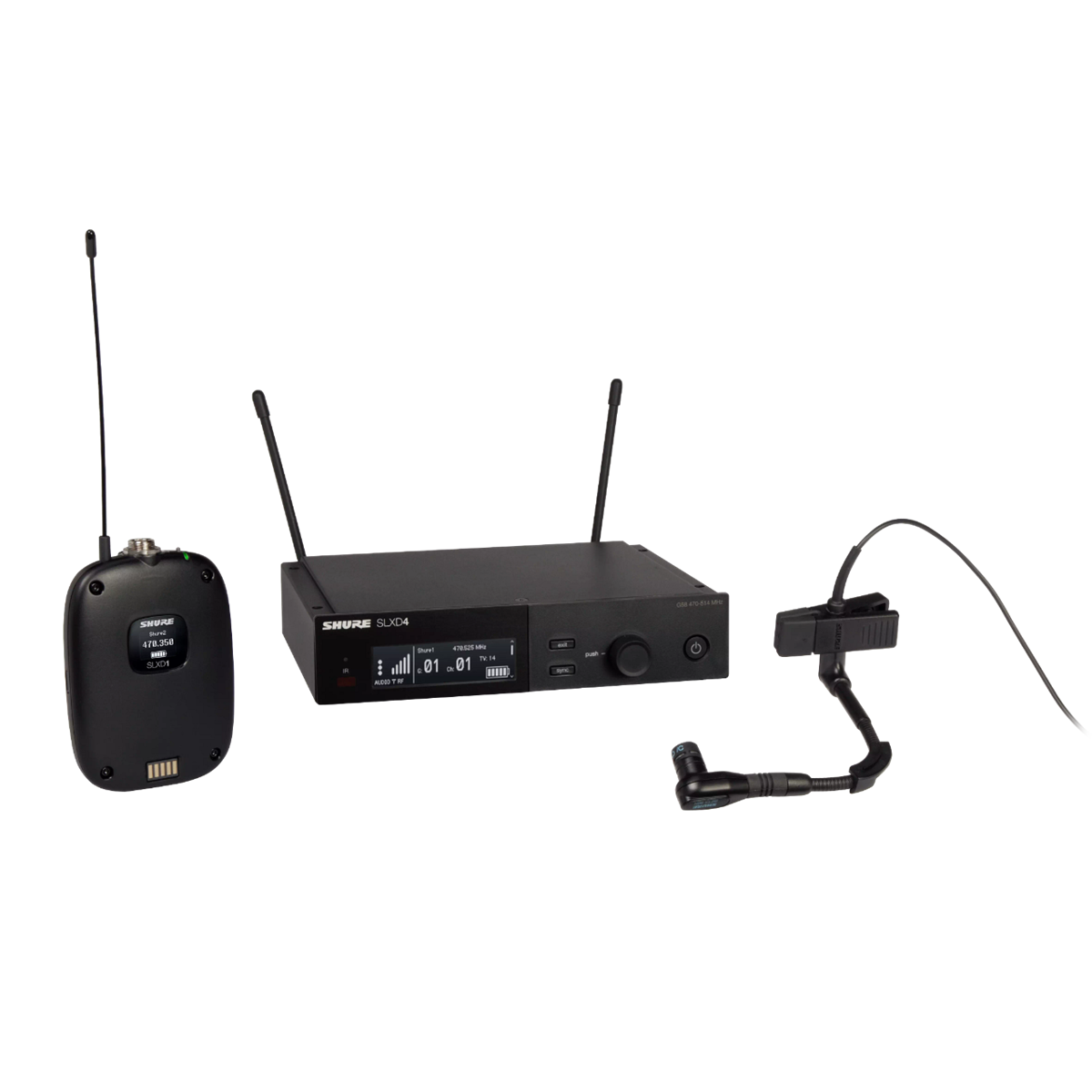 Shure SLX-D Bodypack System WB98H/C Microphone - 518-562MHz