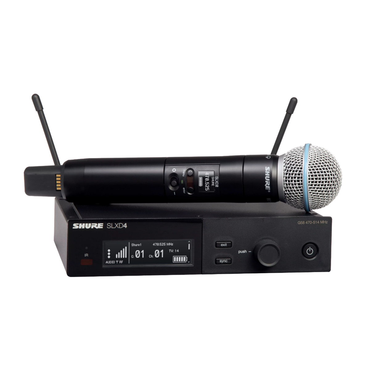 Shure SLX-D Handheld System BETA58A Microphone - 823-865MHz