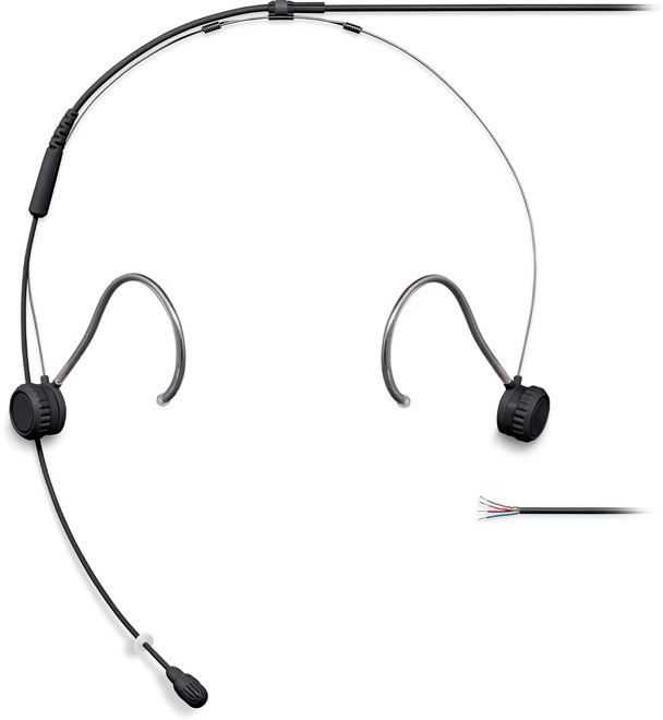 Shure TH53 Headset Omni 1.6mm Cab NoCon Black
