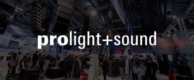 2 - 5 april är vi på Prolight + Sound-mässan i Frankfurt