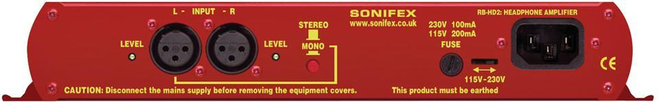 SONIFEX dual Stereo Headphone Amp. Desktop