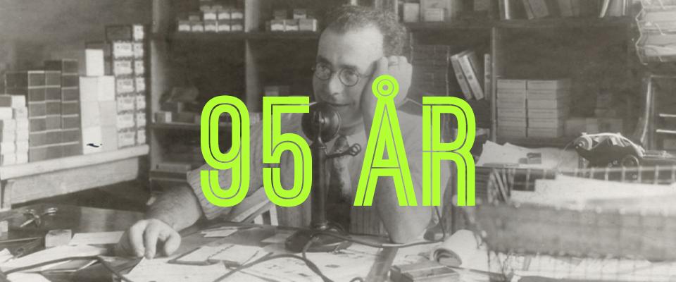 Shure feirer 95 år!