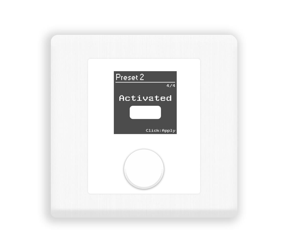 Xilica Programmable wall control. 1.5in OLED display White
