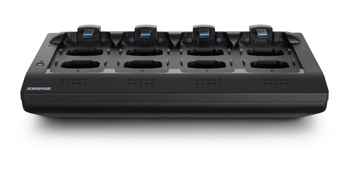 Shure 8-channel Networked Charging Station w. European Power