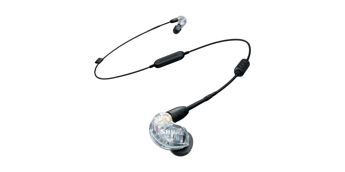 Shure SE215 earphone w/ RMCE-BT1 Bluetooth, clear