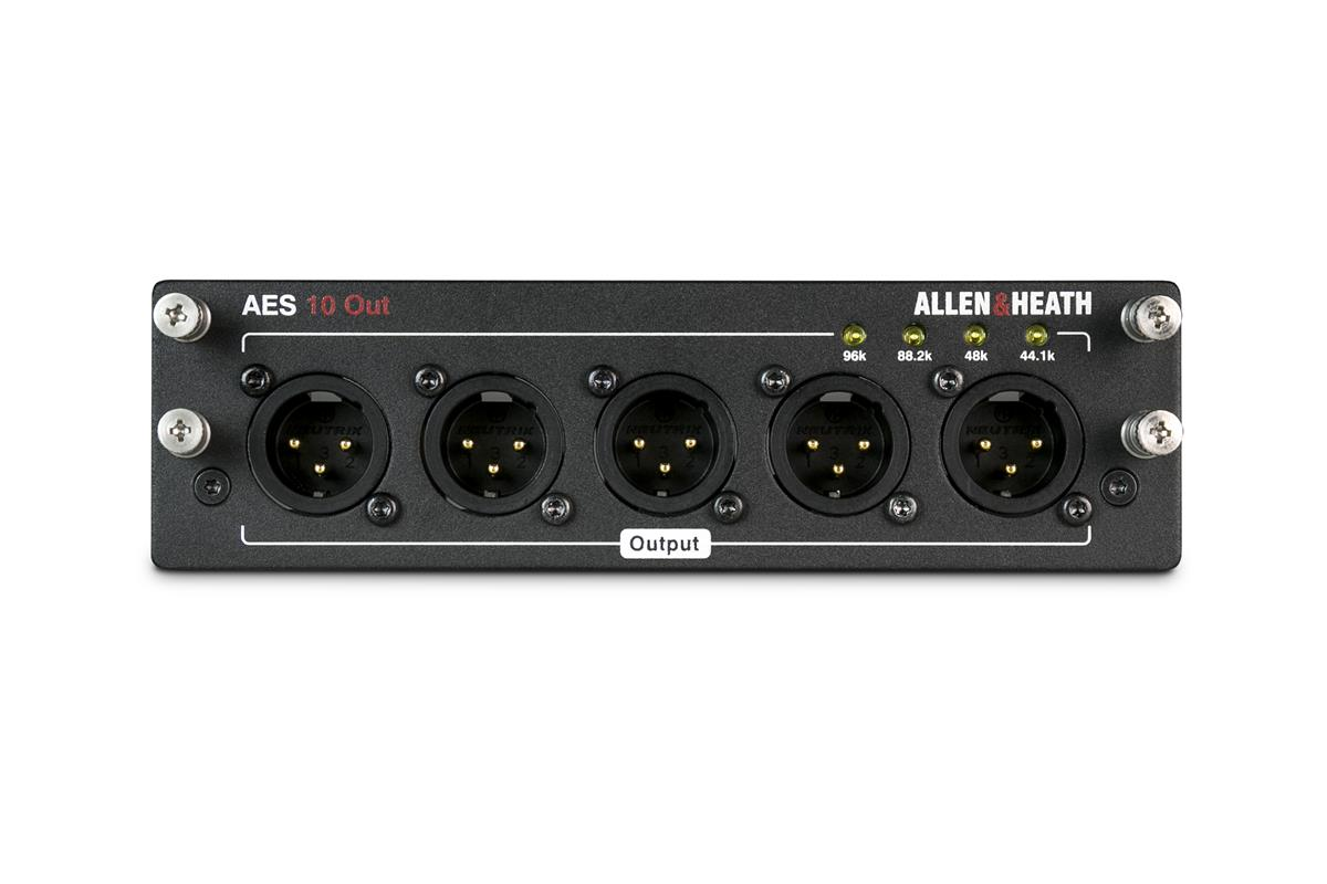A&H AES3 card 10 out