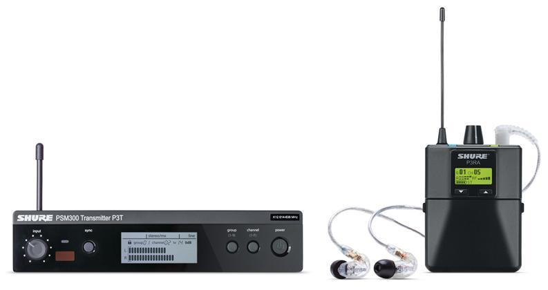 Shure PSM300 Wireless  Monitor System m/SE215(518-542MHz)
