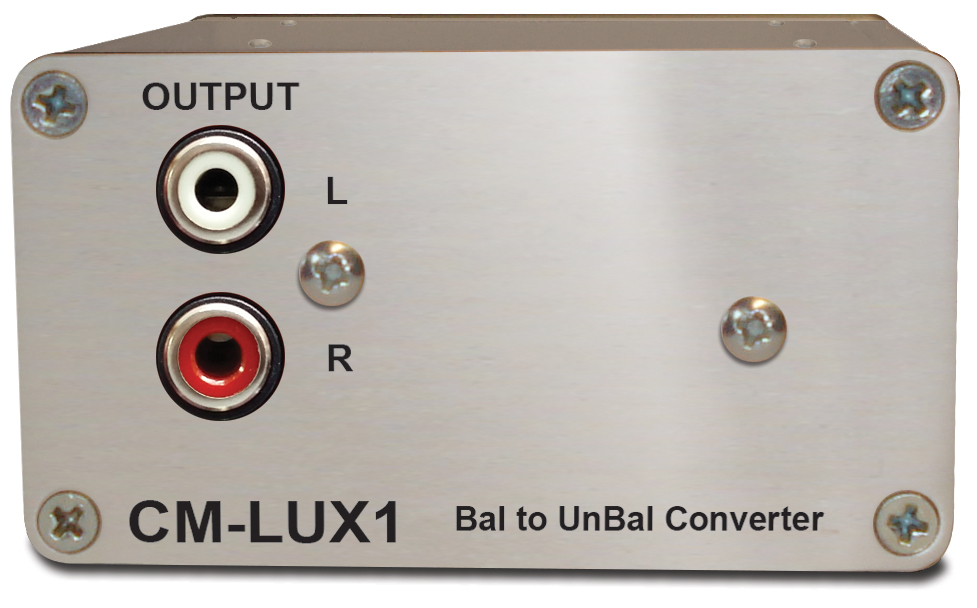 Sonifex Balanced to Unbal. Converter, Passive, XLR to RCA