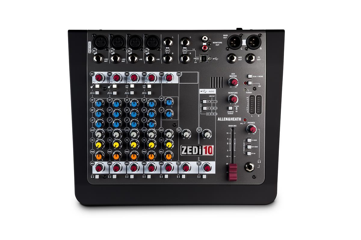 A&H ZEDi10 Hybrid compact mixer, 4×4 USB interface