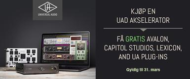 Gratis UAD-plugins fra Avalon, Capitol Studios, Lexicon og UA