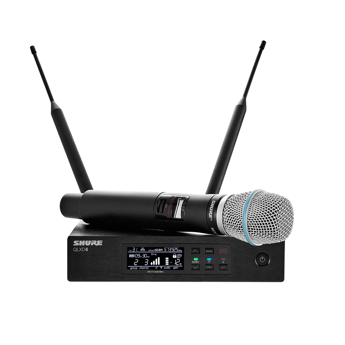 Shure QLXD24 Wireless HH System B87A H51(534-598 MHz)