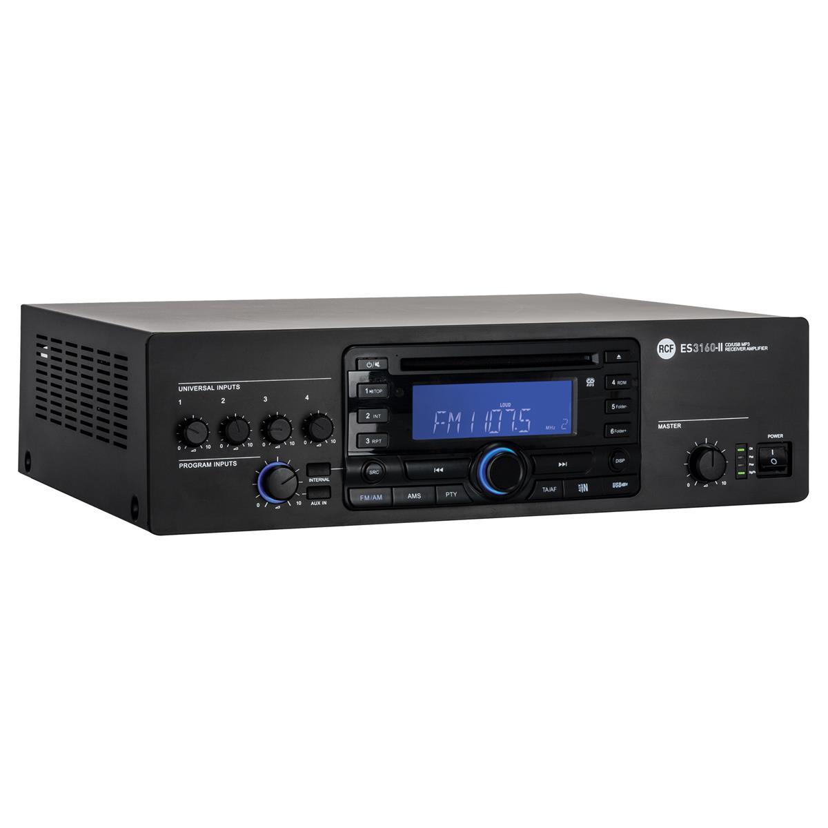 RCF ES 3160 II FM-RDS digital tuner + CD/USB-MP3 + 5 IN - 16