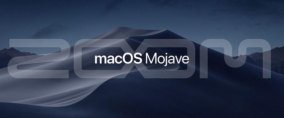 ZOOM kompabilitet med MAC OS Mojave