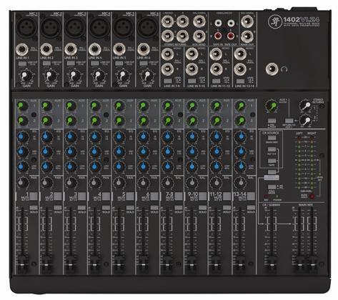 Mackie 1402VLZ4 14-ch mixer w 6 Onyx Preamps