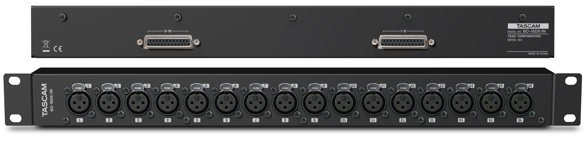 Tascam Breakout Box with 16 Balanced In XLR-F - 2xSUB-D25