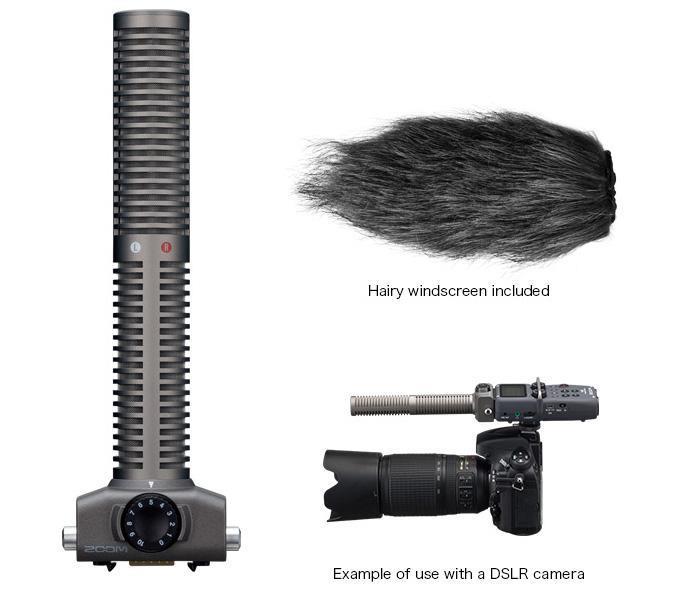 Zoom SSH-6 Stereo Shotgun mikrofon til H5, H6, Q8