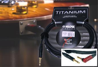 Klotz Titanium gitar kabel med silentPLUG vinkel 4,5m