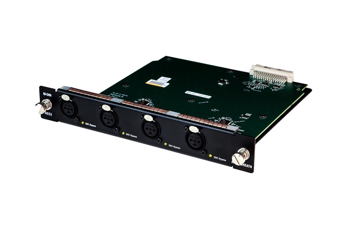 DX32 Dig input module - 4 dual ch AES digital inputs