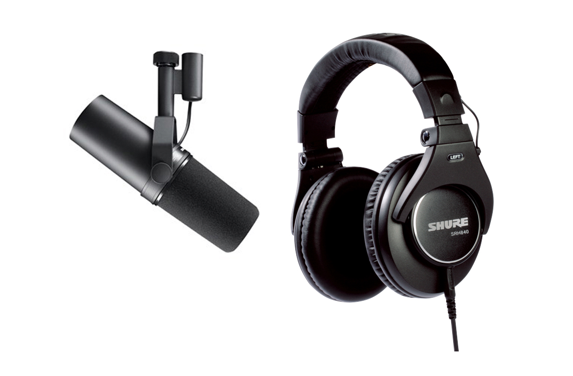 Shure SM7B and SRH840-EFS - BUNDLE