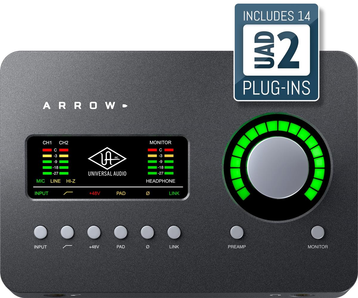 Universal Audio Arrow Audiointerface, x2 Mic, x1 DSP, TB3