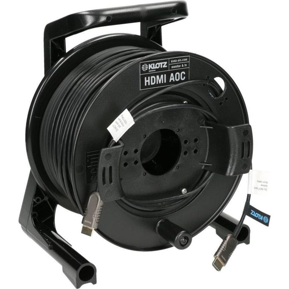 Klotz HDMI 2.0 AOC (active optical cable) on drum 50m