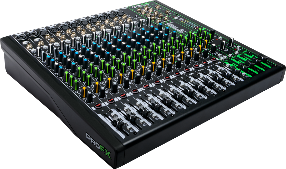 Mackie 16 Channel 4-bus Professional Effects Mixer with USB