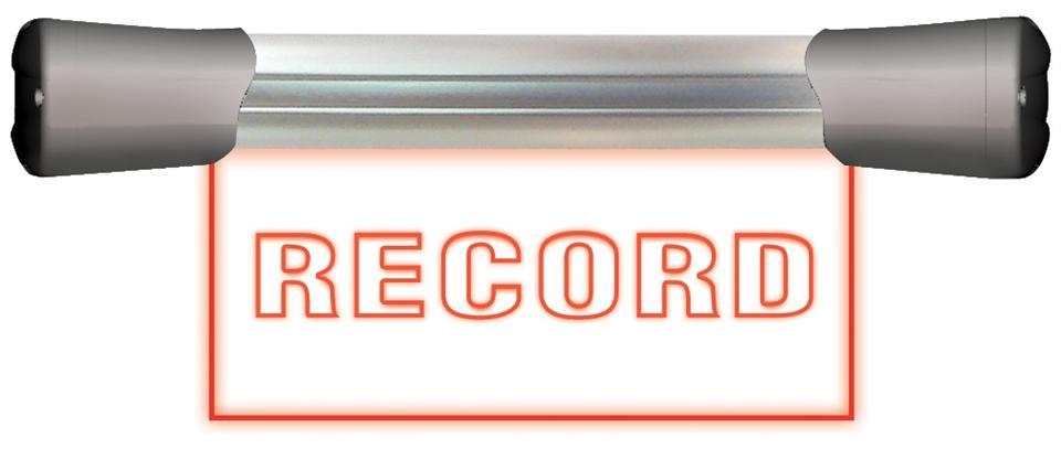 SONIFEX LED Single flush 20cm REC sign