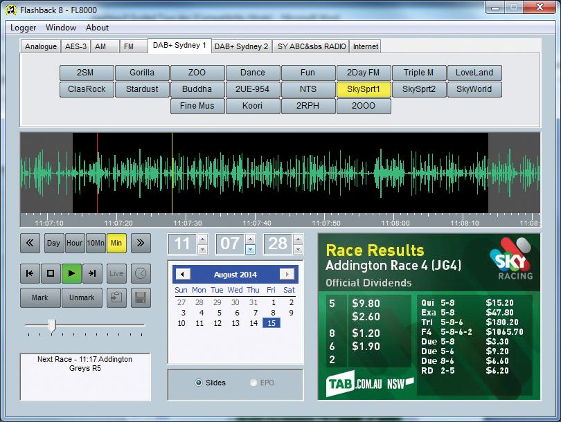 SONIFEX Flashlog 8 Mult. Ch. Logger - AM, FM, DAB+ & IP str.