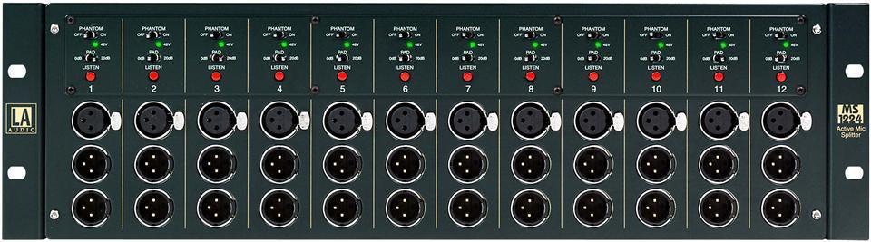 LA Audio splitter for 12 kanal -HUSK PSU