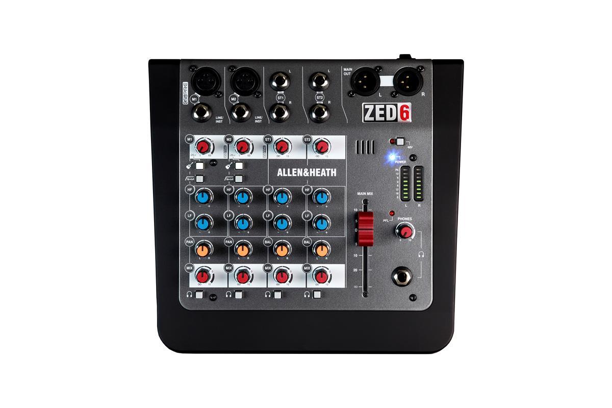 A&H ZED-6 Compact 6 input analogue mixer