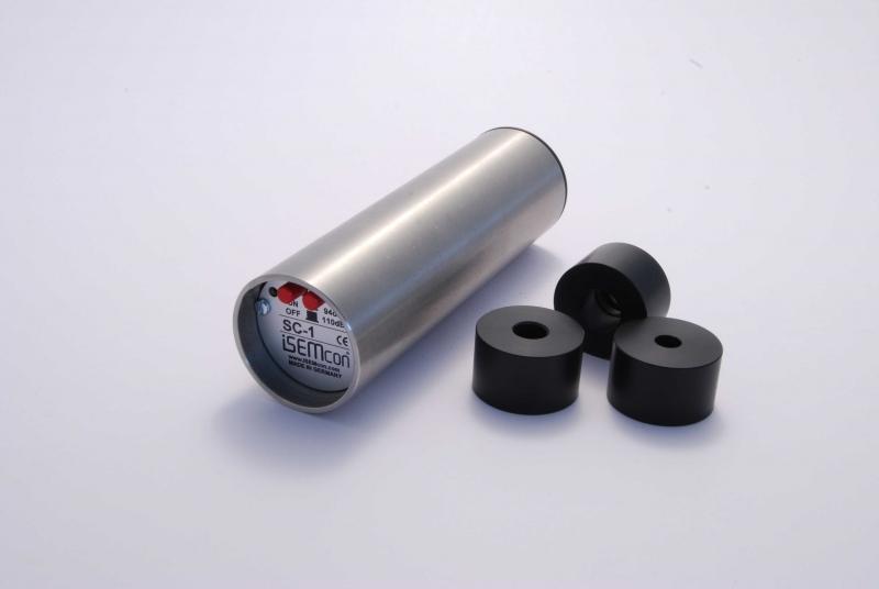 iSEMcon SC-1 Sound calibrator inkl adaptere og case