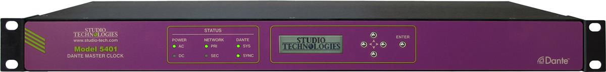 Studio Technologies Model 5401 Dante Master Clock