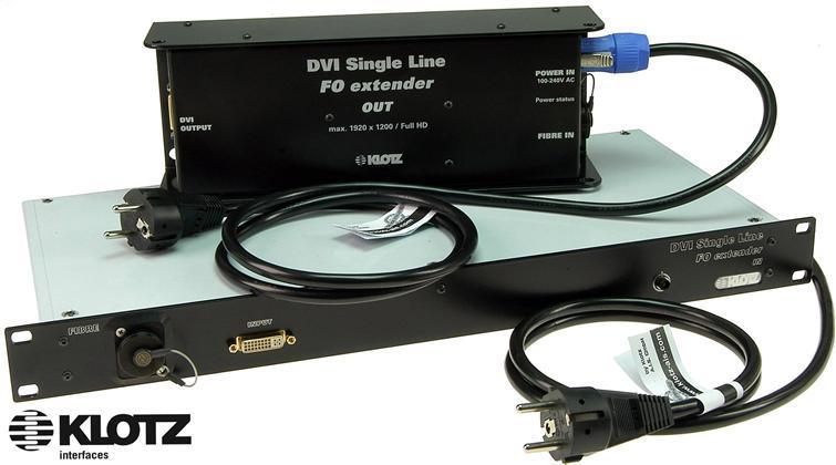 Klotz DVI Extender Set, MMF, OpticalCON Duo