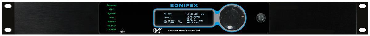 Sonifex PTP Grandmaster Clock, GPS, IP, TXCO, Rackmount