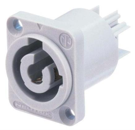 Neutrik NAC3MPB-1 Powercon 3p chassis outlet, grå