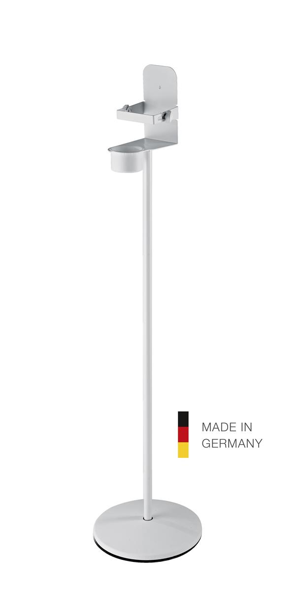 K&M 80315 Disinfectant stand with bracket XL, white