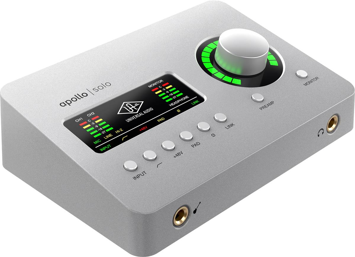Universal Audio Apollo Solo,x2 Mic,x1 DSP,USB-C,Heritage Ed.