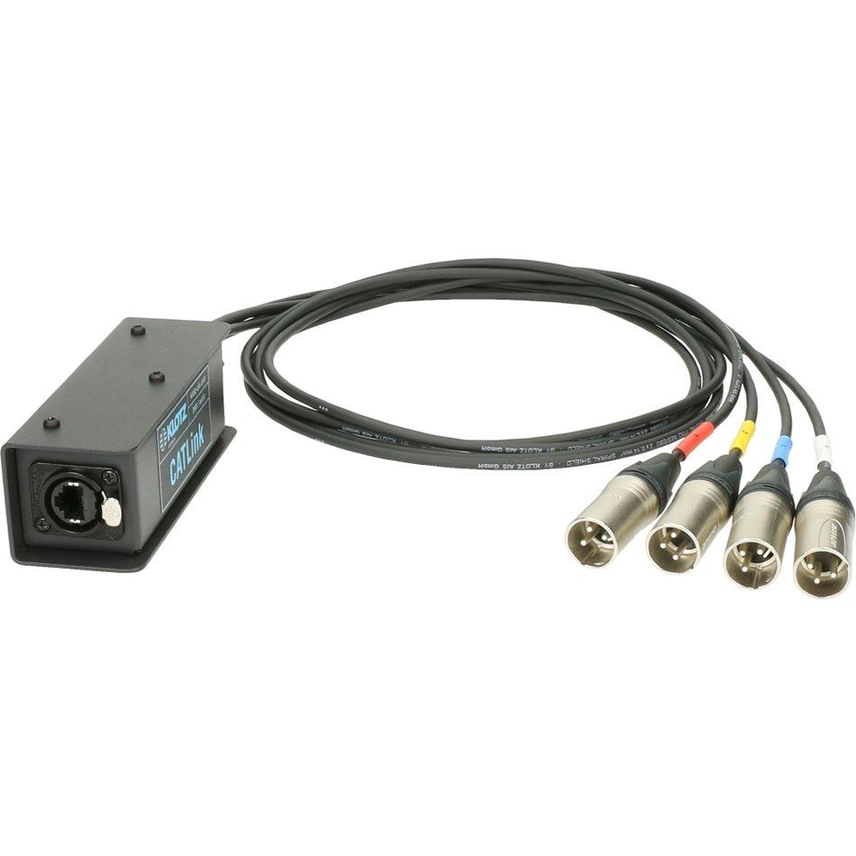 Klotz CATLink EtherCON til 4X XLR AES Ut