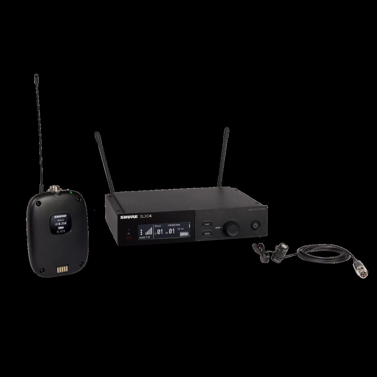 Shure SLX-D Bodypack System WL183 Lavalier - 518-562MHz