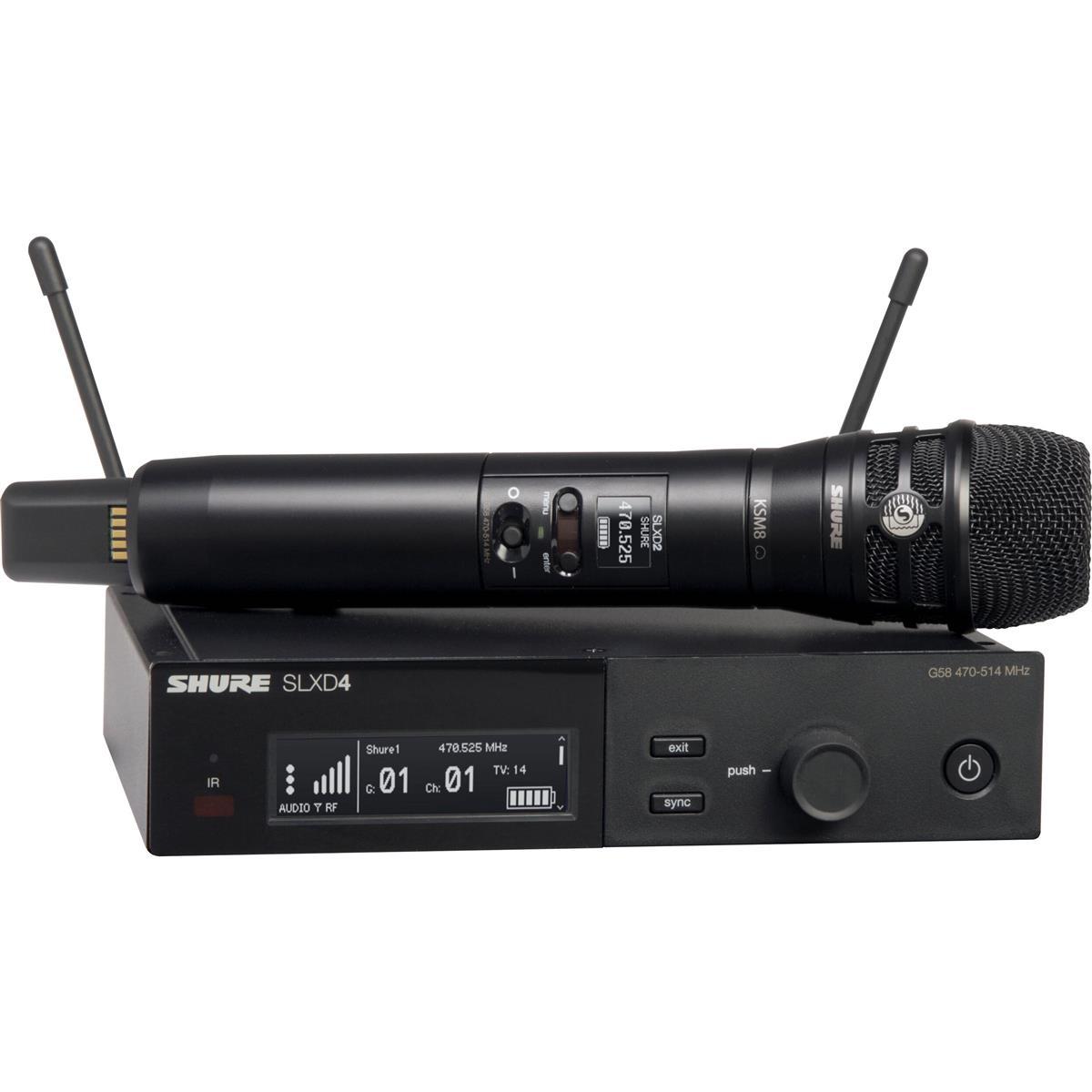 Shure SLX-D Handheld System KSM8B Microphone - 518-562MHz